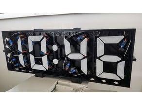 3D-Printed Servo-Driven Digital Clock