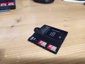 3 MicroSD, 1 SD - mini keychain holder remix