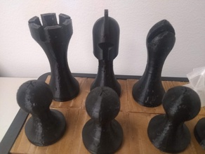 Weighted Chessmen, Simplified Staunton Style