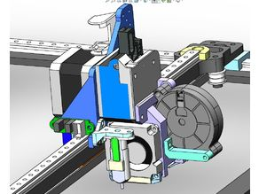 директ TITAN + E3D v6 + БЛТАЧ (фрез.балка сверху / 5015+4010+4010) для UNI3d