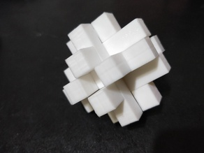 Burr Puzzle with 12 identical pieces