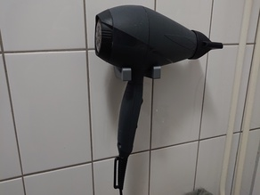 Hair dryer wall mount