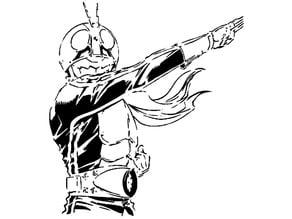 Kamen Rider stencil