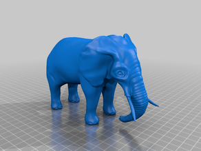 Elephant (made with Sculptris)