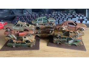 Gaslands Scrap Car Wheel Hubs - Matchbox / Hotwheels