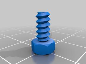 Bolt 4mm thread / 1.4 step / 45 degrees / 4 mm height