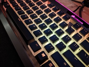 Corsair K70/K95 Platinum backplate RGB light reflector