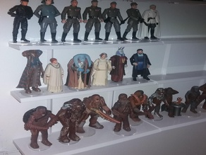 "Figure shelves for star wars, gi joe, and other 4"" size action figures Kenner hasbro"