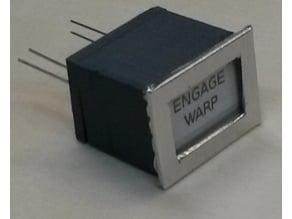 Aviation style illuminated switch