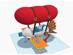 Chip 'n Dale - Rescue Rangers Blimp Plane