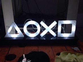 Playstation Icon Lights CIRCLE FIXED