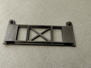 Holder for Wera plastic rack for wall mounting