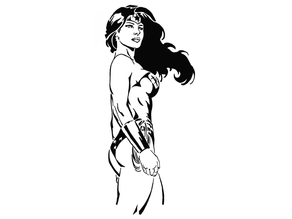 Wonder Woman stencil 8