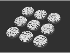 32 mm cobblestone bases x 9