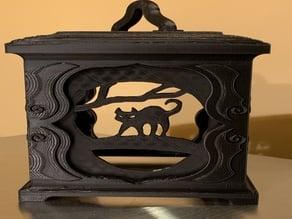Lantern Panels - Black Cat