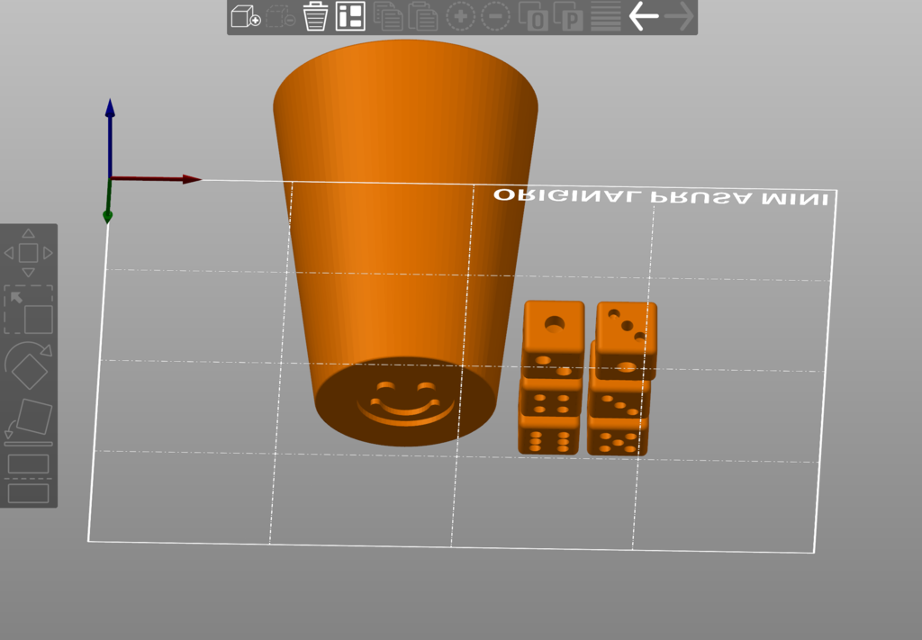 Dice Cup Smiley