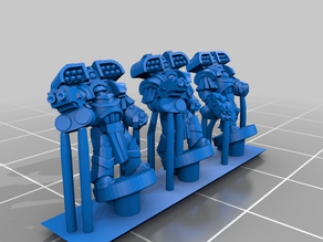 Galactic Crusaders - Heavy Siege Armour Heavy Weapons- 6-8mm