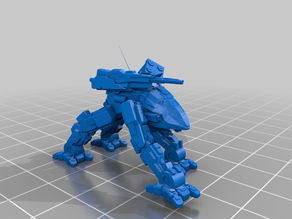 MWO Style Thunder Fox 6mm Scale Battletech