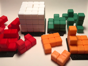 Puzzle Cubes with Bases
