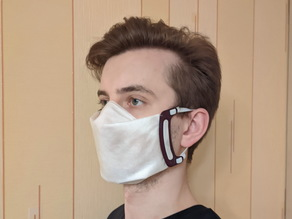 Coronavirus face mask clip / frame (no sew)