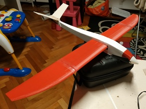 RC Crobe micro-glider (wings and motor mount)