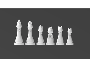 Royal Cat Chess Pieces