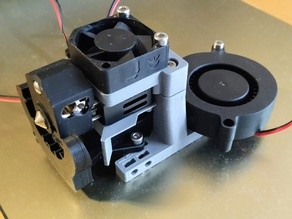Nf-crazy (Mosquito clone) hotend adapter for HyperCube 25mm/30mm fan
