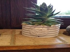 Flower Pot - With Leaf Emblem