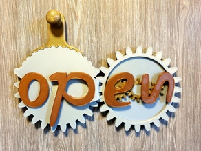 Open / Closed sign geared - REMIX