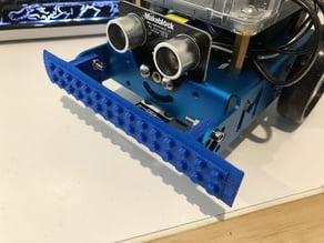 Robot bumper with plastick building block interface