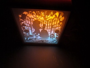 Light BOX With 3D Printing beauty and the beast