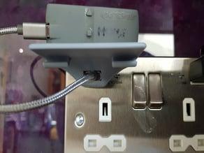 USB Power socket mini-shelf