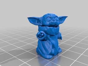 Baby Yoda -like character Smiling