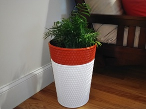 Extra Large Knurled Self Watering Planter Pot Vase