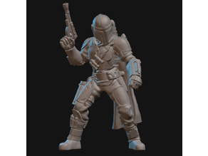 The Mandalorian (with upgraded Beskar armor) Miniature