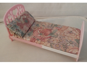 Mountable Barbie size bed for dolls