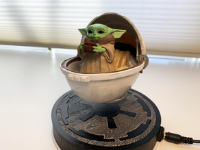 Baby Yoda MagLev Base Cover