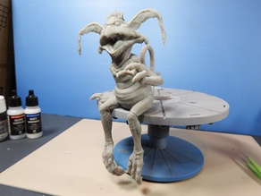 Salacious Crumb- from Return Of The Jedi. Kit version, seated.