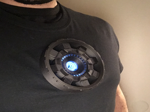 Ironman wearable Arc Reactor costume powered by El Wire
