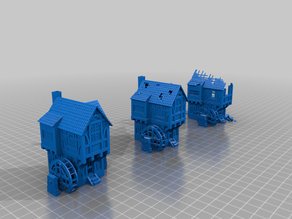 water wheel house - terrain - includes .3mf