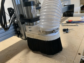 CNC Dust Shoe 65mm Spindle 4in Dust Hose with Magnetic Removable Brush