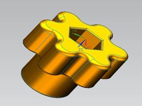 Manopola per dado/bullone M5 - Knob to nut / M5 bolt