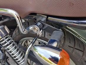 Motorcycle rear blinker/turn signal offset bar (e.g. for Orcal Astor 125)
