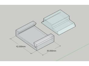 Trapezoidal rail assembly test