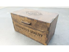 Wooden box. Fully laser cut.