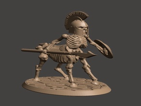 28mm - Undead Skeleton Centaur Miniature