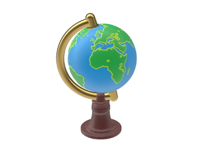 The tiny (spinning) World Globe