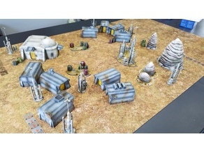 "Star Wars: Legion Terrain - Imperial resettlement camp ""Tarkin Town"""