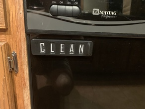Dishwasher Clean / Dirty Sign