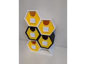 Hexagonal Storage Drawers for Desktop